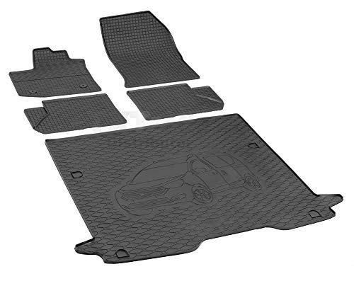 Passende Gummimatten und Kofferraumwanne Set geeignet für Dacia Dokker ab 2012ein Satz + Gurtschoner