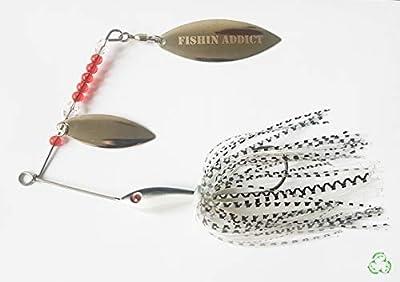 FISHIN ADDICT Spinnerbait Salt and Pepper fishing lure 16g