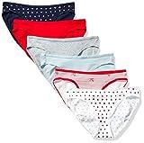 Amazon Essentials Women's 6-Pack Cotton Bikini Underwear, Valentines, L