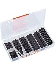 Werkzeyt Krimpkous-assortiment 127-delig - diverse maten in set - voorgesorteerd in praktische kunststof doos - ter bescherming van kabels/assortimentsdoos/assortimentsbox / B34165