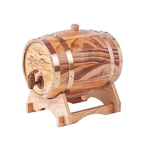 RUOLH Botas Madera De Roble De Vino, Barril De Vino Dispensador Barril De Madera De Roble para Almacenamiento O Aging Wine Apto para La Conservación De Whisky Vino Ron