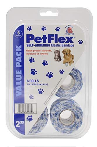 PetFlex Self-Adhering Elastic Bandage - Paw Prints 2' 6-CT 2' x 5 yds.