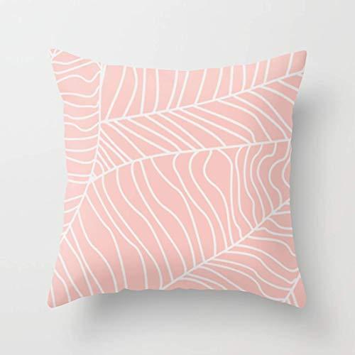 Elsaone Kissenbezug Tropical Leaves - Pink Palette Cotton Kissenbezug für Schlafsofa Standgröße Kissenbezug 18x18 Zoll 45x45 cm