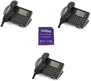 Shoretel ShorePhone IP 230 Desk Phone Bundle with Headset Advisor Wipe- 3 Pack (Certified Refurbished)