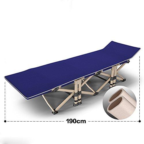 KFXL yizi Chaise pliante Portable lit pliant Chaise de bureau Méridienne 2 couleurs disponibles 190 * 71cm (Couleur : A)