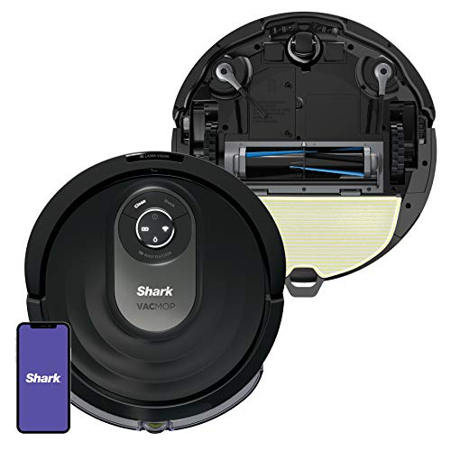 Shark AI VACMOP Robot Vacuum and Mop RV2001WD with Self-Cleaning Brushroll, Advanced Navigation, Perfect for Pet Hair, Works with Alexa, Wi-Fi