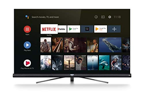 TCL 65DC766 Fernseher 164 cm (65 Zoll) Smart TV (4K UHD, HDR, Wide Color Gamut, Andoid TV, Google Home, Google Assistant, JBL by Harmon Kardon) Brushed Titanium