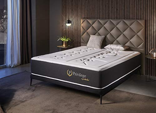 naturalex Privilege | Royal Quality Memory Foam Mattress | EU Size 105x200cm | Hand Stitched Embroidered Design | Quilted Soft Touch Fabric and Exquisite Finishes | 10 Year Warranty