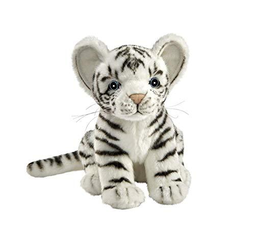 HANSA–Peluche Tigre Blanco bebé Sentado 20CMH/20cml