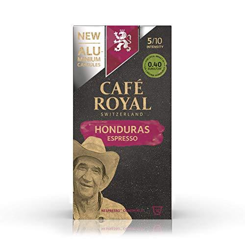 Café Royal Honduras Espresso Nespresso ®* kompatible Kapseln aus Aluminium - Intensität 5/10 - 10 Kaffeekapseln (1 x 10 Pack) - UTZ - Kompatibel mit Nespresso ®* Kaffeemaschinen