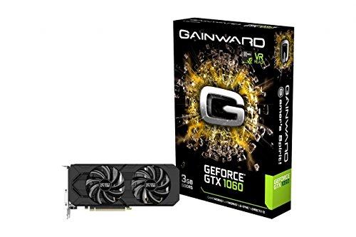 Gainward GeForce GTX 1060 3GB Dual (PCIe 3.0, 3GB DDR5 Speicher, HDMI, DVI, 3xDisplayPort)