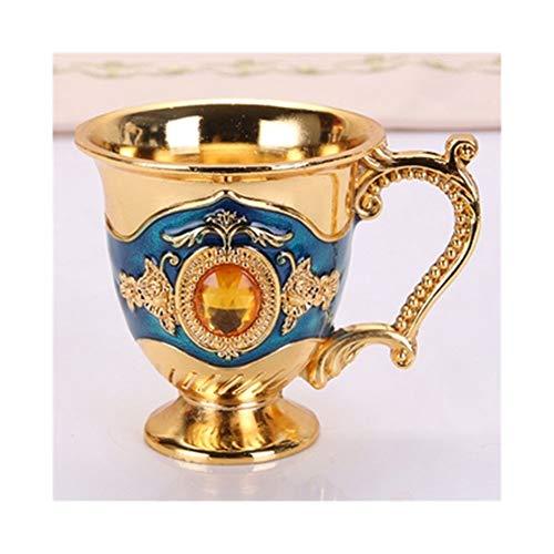 Copas de vino tinto Copa de vino conjunto de copa Tiro del vino Vidrio Metal vidrio de 20 ml 30 ml creativo retro Pequeño licor Copa de Oro europea Estilo de alto grado regalos Bar El Bar Comedor