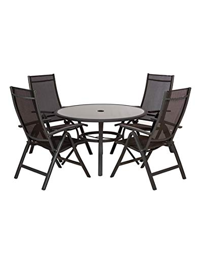 Sorrento 4 Seater Reclining Set Dining Garden Patio Furniture New