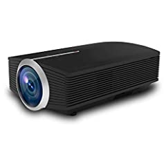 AMAZING MOVIE EXPERIENCE - Support 1080P full HD with 800*480P native resolution. 50-130inch projection size with an aspect ratio of 16:9/4:3. Best choice for families movie night at home or backyard in no light/low light environment. Enjoy the bigge...