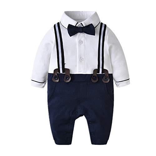 Bom Bom Baby Junge Smoking Strampler Taufe Hochzeit Gentleman Kleidung (Farbe 2, 3-6m)