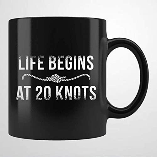 Kitesurfer Kitesurfing Sailor Surfer Taza de cerámica para café, taza negra personalizada Taza de té para bebidas (11 oz) para el hogar y la oficina, cumpleaños, aniversario, carnaval, día de San Vale
