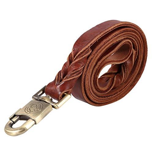 Correa de cuero para collar de perro, cadena para mascotas de 2,5 cm de ancho para perros medianos grandes(2.5 * 120CM)