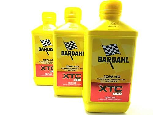 Bardahl Bardhal XTC C60 10W40 - Aceite sintético para motor de moto, 3 litros