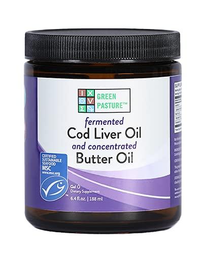 Green Pasture Butter Oil/Fermented Cod Liver Oil Blended Gel - Non Flavored, 6.4 oz.