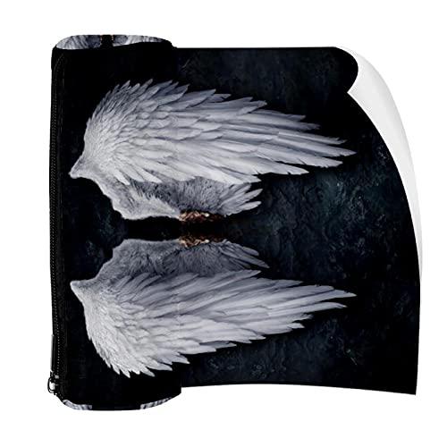 Estuche de lápices roto alas de ángel bolsa bolsa de bolígrafo con cremallera para papelería, viajes, escuela, estudiante suministros