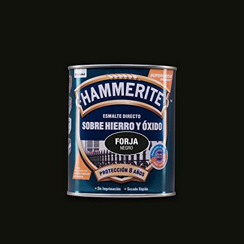 Hammerite Esmalte directo sobre hierro y óxido Forja Negro 750 ml