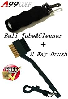 A99 Golf Ball Tube&Cleaner+Two-Way Golf Club Brush