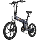 Vivi Z1 Folding Electric Bike Ebike, Electric Bicycle for Adults 20Mph with 36V 10.4Ah Removable Lithium-Ion Battery, 350W Motor and Shinmano Professional 6 Speed Gears, Gray