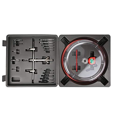 Kit de cortador de sierra de orificio ajustable, cortador de sierra de orificio ajustable de 40-200 mm con hoja doble de protección contra el polvo de ABS y dos brocas piloto reemplazables