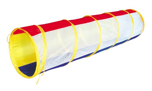 Rainbow Play Tunnel Pop-Up Mesh Tube