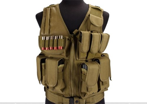 Airsoft Zombie Hunter Starter's Protective Vest Package for airsoft - Tan