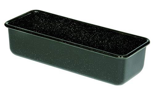 Riess, 0638-022, Profibäcker Backform, Königskuchenform 30/10, CLASSIC - BACKFORMEN, Inhalt 1.7 Liter, 7.8cm hoch, 10 cm breit, 30cm lang, Emaille, Schwarz