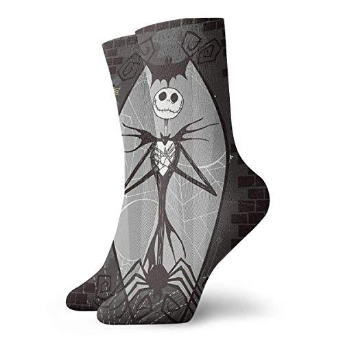 ES Calcetines para hombre Pesadilla antes de Navidad Jack y Sally Skeleton Painting Calcetines de compresión Novedad Cojín Running Calcetines