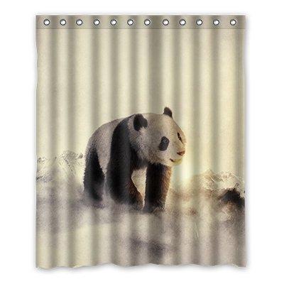 dalliy Custom Panda Duschvorhang Polyester 152cm x 183cm, Polyester, e, 152,4 x 182,9 cm