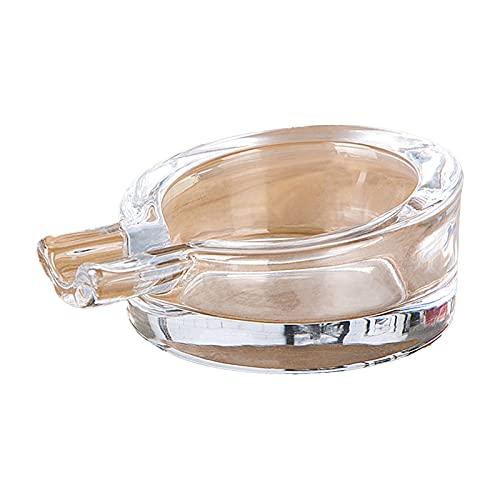 Cenicero de cigarrillo de moda mini cenicero de cristal personalidad hogar sala decoración adornos regalos vacaciones blanco
