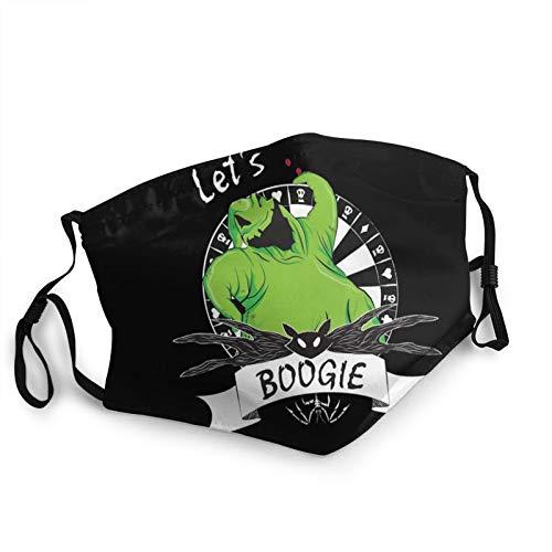 Oo-Gie Boo-Gie Opaque Face Mask for Men Women Washable Breathable Adjustable Face Balaclavas Reusable Bandanas Black