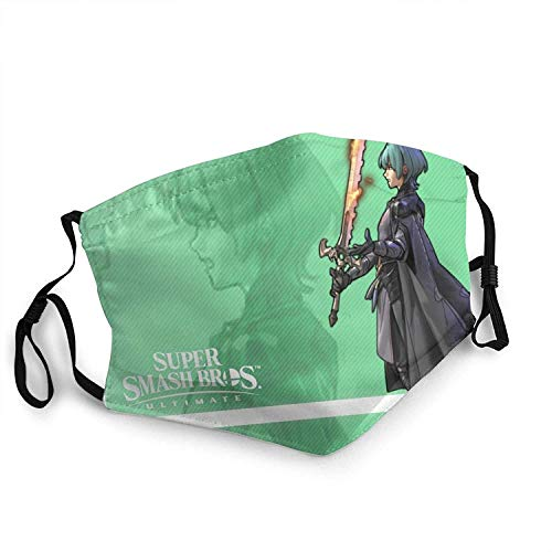Titafel Byleth Fire Emblem Cloth Face Mask Reusable Adjustable Washable For Adult & Teens With 2 Filters