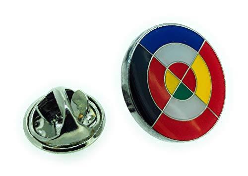 Gemelolandia | Flaggen-Anstecknadel Eurofighter | Originelle und preiswerte Pins zum Verschenken | für Hemden, Kleidung oder Rucksack | lustige Details