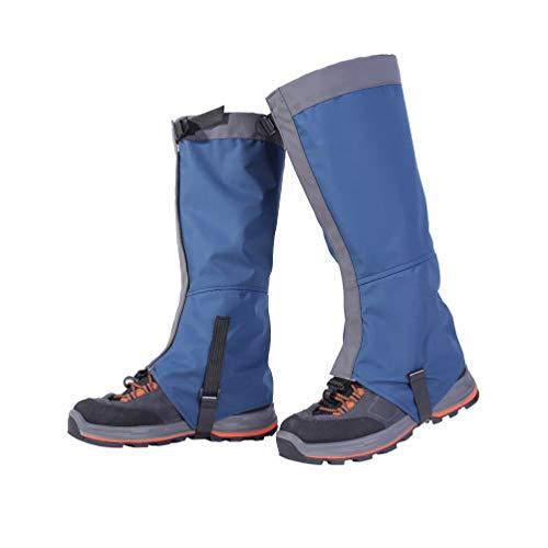 LIOOBO 1 Paar niedrige gaiters einstellbar wasserdichte calf deckt Knöchelschutz Schutzgamaschen für das Gehen Rucksack Wandern