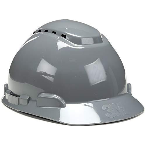 3M Hard Hat, Gray, Lightweight, Vented, UV Indicator, Adjustable 4-Point Ratchet, H-708V-UV