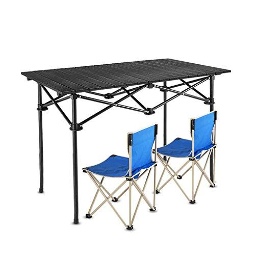 Table de Pique-Nique Pliante en Alliage d'aluminium Ultra-légère extérieure Table de Camping avec Barbecue (Color : B, Taille : L)