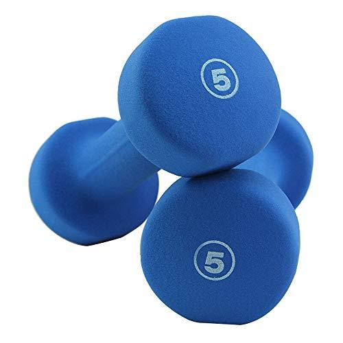 Outdoor Life Pesas Azul, un par de Accesorios de Fitness de Interior Unisex, aparatos de Gimnasia al Aire Libre Multifuncional, mancuerna pequeña portátil