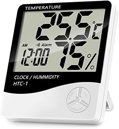 Relojes De Pared Con Termometro E Higrometro  marca Spardar