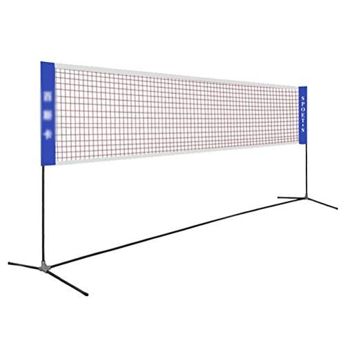 CWYPC Folding Einstellbare Badmintonnetz, Federballnetz Volleyballnetz Tennisnetz Tragbares Badminton Net Rack, Für Außen Innenplätze Hinterhof Strand6.1M