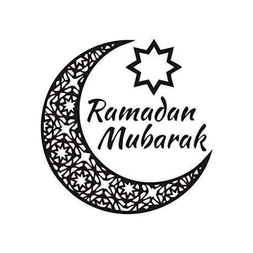 Amosfun Muslim - Adhesivo para Pared (PVC, extraíble), diseño islámico