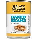 Black & Gold Sauce Tomate Haricots Cuits au four 420gm x 12