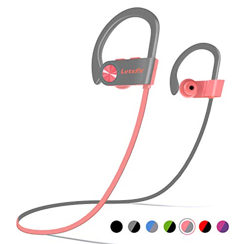Bluetooth Headphones, Letsfit Wireless Headphones, IPX7...