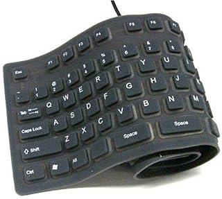 Flexible Washable Keyboard Black