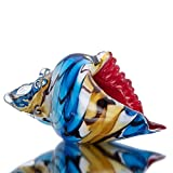 QF Glass Conch Sea Shell Home Decorations Hand Blown Murano Glass Animal Figurines or Sculpture Collectible Figurines