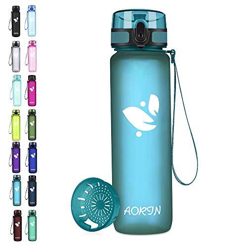 AORIN Botella de Agua Deportiva-350ml/500ml/750ml/1000ml-Botella Agua