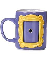 Paladone PP6548FR Friends keramische fotolijst mok met Monica's gele kijkgaatje 330ml, 330 milliliter